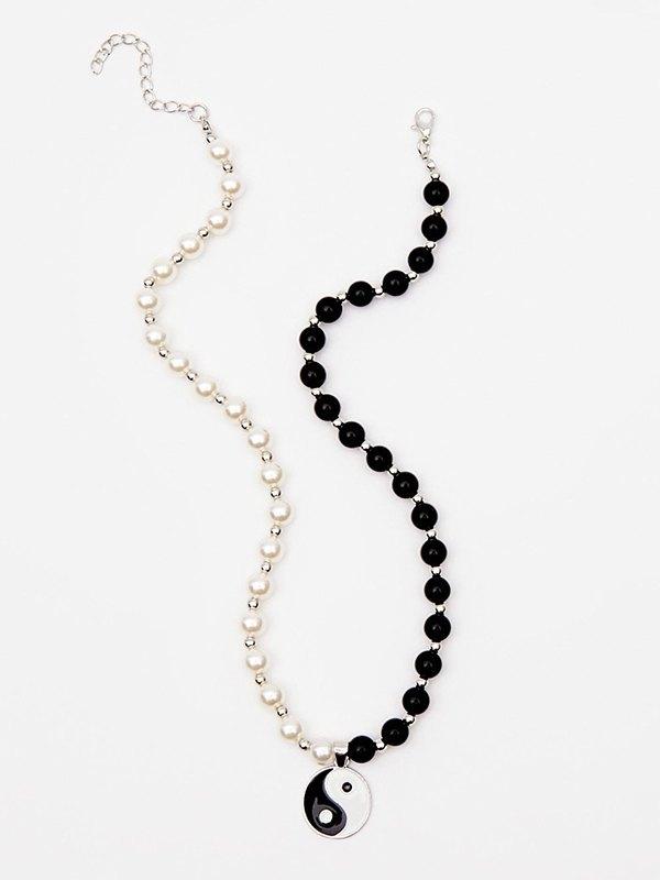 Yin Yang White&Black Necklace -