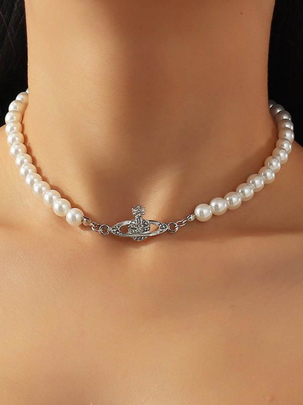 Planet Pearl Necklace -