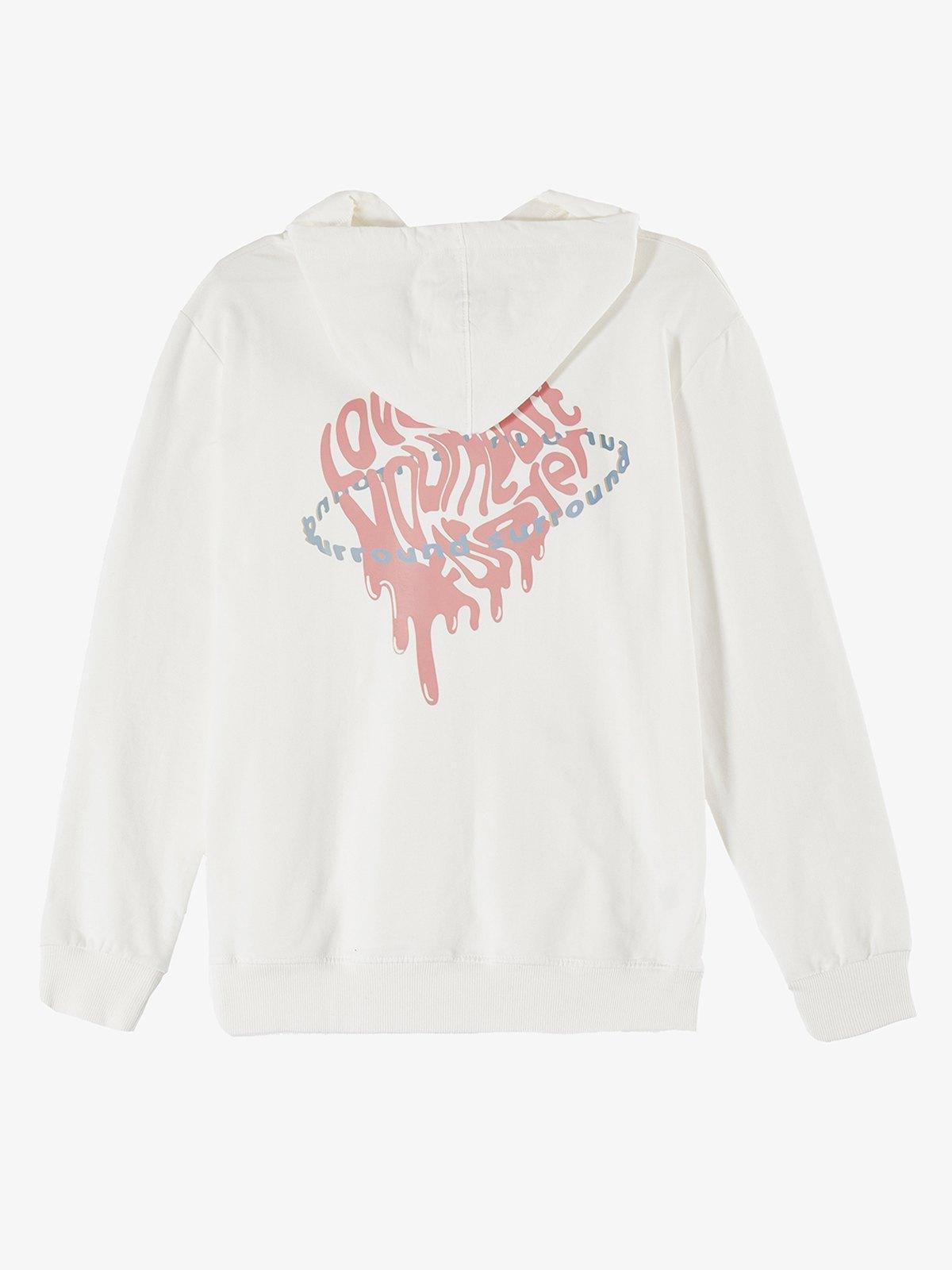 Surround Love Printed Hoodie - White S