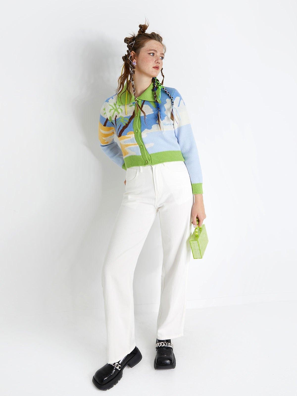 White Washed Boyfriend Jeans - White L
