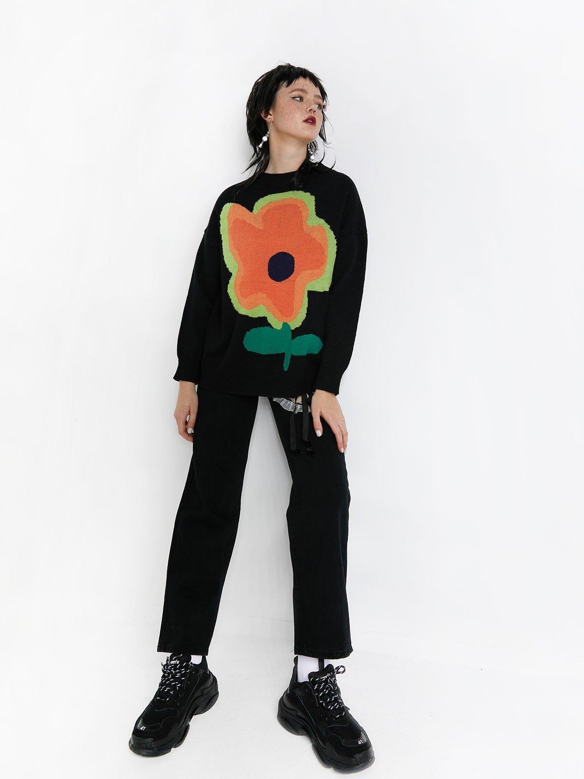 Cutout Lace Up Boyfriend Jeans - Black L
