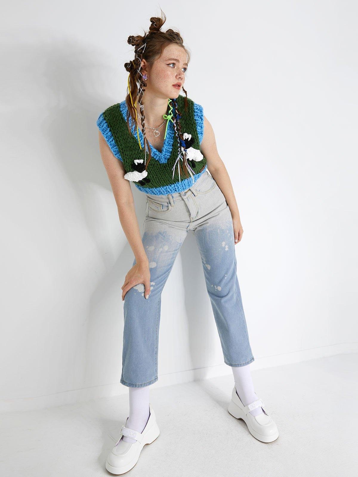 Ombre Skate Jeans - Blue L