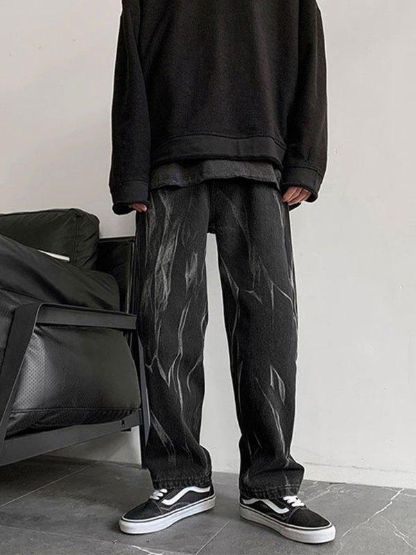 Men's Washed Skate Jeans - Black M
