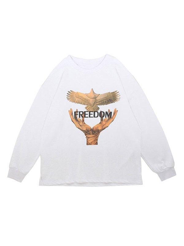 Men's Freedom Crew Neck Sweatshirt - White M