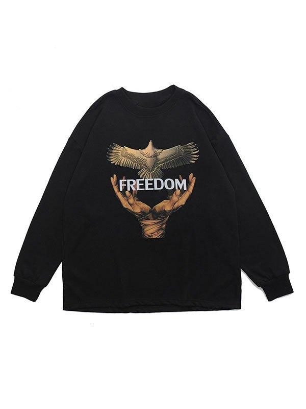 Men's Freedom Crew Neck Sweatshirt - Black S