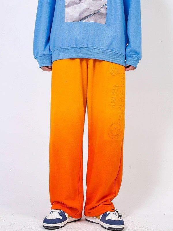 Men's Ombre Jogger Pants - Orange XL