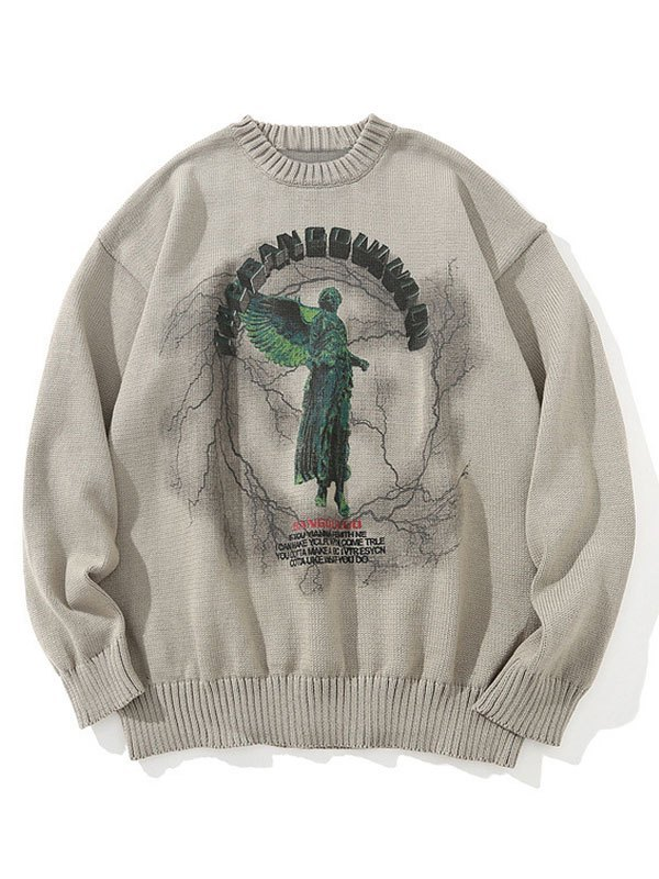 Darkness Heaven Oversized Sweater - Khaki M