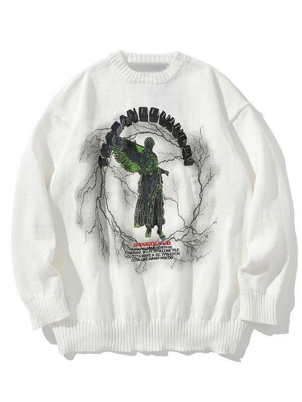 Darkness Heaven Oversized Sweater - White M