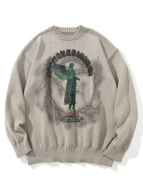 Darkness Heaven Oversized Sweater - Khaki L