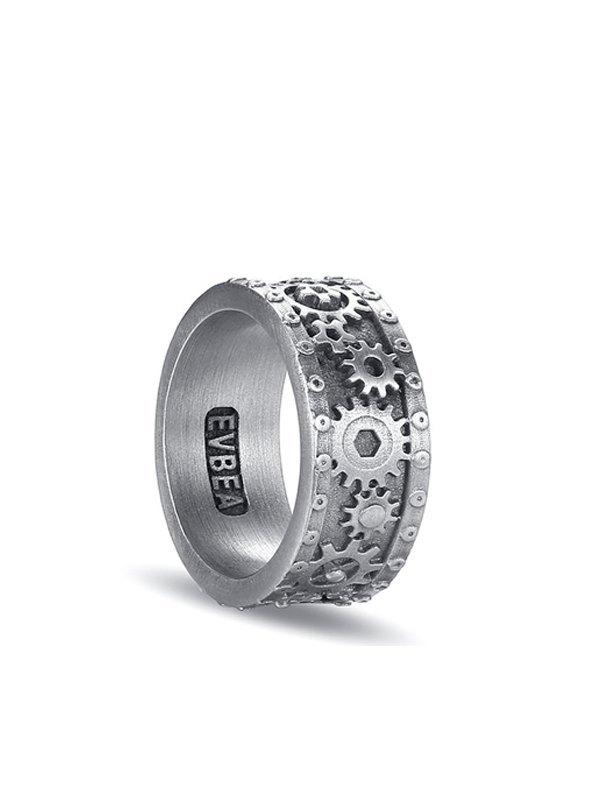 Cyberpunk Gear Ring - Silver ONE SIZE