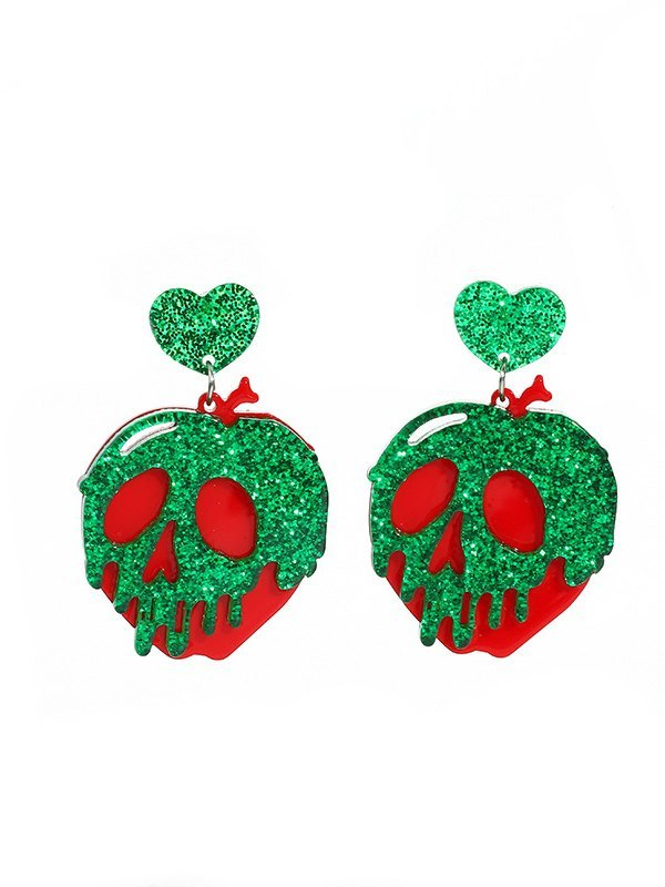 Halloween Colorblock Skeleton Earrings - Mixcolor ONE SIZE