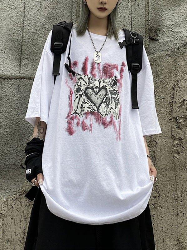 Tin Love Graphic Tee - White M