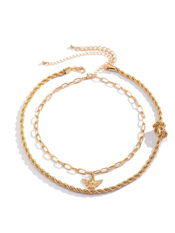 Angel Necklace - Golden ONE SIZE