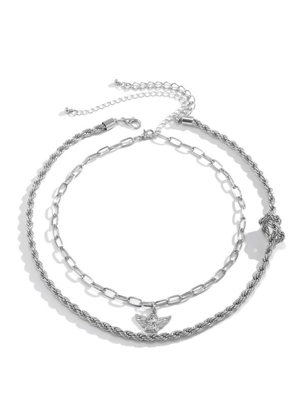 Angel Necklace - Silver ONE SIZE